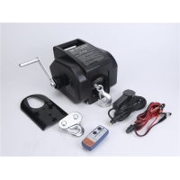 China Portable Trailer Reversible Electric Winch 12V DC Power-in Power-out Freewheel Operations for Boats Up to 6000lbs wholesale