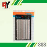 China Student DIY Transparent Soldered Breadboard 1660 Points 2 Terminal Strip wholesale