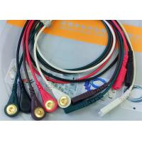 China LL Style ECG Monitor Cable , 5 Leads Snap AHA Ecg Cables And Leadwires wholesale