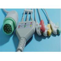 China 10 Pin Philips Ecg Cables , TPU Philips 3 Lead Ecg Cable For Snap / Clip wholesale