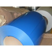 China CGCC PVDF Ocean Blue Precoated GI Steel Coils , Color Coated Galvanized Steel Coil wholesale