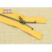 China Black Nickel Teeth Close End Jeans Metal Zipper Polyester Tape For Uniform / Shoes / Bags wholesale