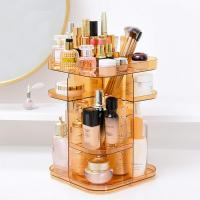 Quality Four layers non-folding cosmetics rack standing type 360 degree rotation makeup for sale