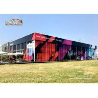 China Durable Black Double Decker Tents 25 x 50m With Customized Printing wholesale