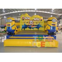 China PVC Cartoon Theme Inflatable Despicable Me Bouncer Castle For Kids Indoor Game wholesale
