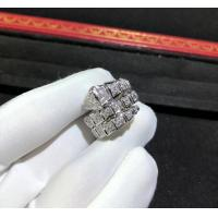China Magnificent 18K Gold Diamond Ring , Personalized Bulgari Snake Ring AN855116 wholesale