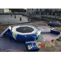 China Blue Bouncy Inflatable Water Game Fluorescent For Adults 0.90mm PVC wholesale