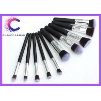 Quality Soft hair 10 piece makeup brush sets synthetic essential kit with Personalized for sale