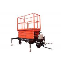 China Self Propelled Hydraulic Mobile Scissor Lift Table With Lifting Height 3 - 16m wholesale