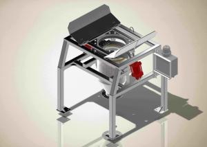 China 1000kg Q235 Bulk Bag Unloader With Tubular Chain Conveyor wholesale