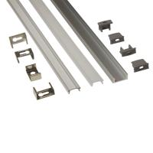 Quality Silver Matt Square / Round Anodized Aluminium LED Profiles For LED Frame for sale
