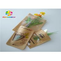 China Clear Window Customized Paper Bags Recycled Brown Kraft Paper For Shopping wholesale