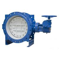 Quality PN10 Cast Iron Eccentric Butterfly Valve , Double Offset Soft Seal Butterfly for sale