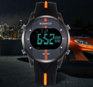 China Wholesale Fashion Men Sport Watches Rubber Strap Waterproof 30m Chronograph Alarm Calendar Watch  F543 wholesale