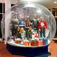 China Advertising Dome Inflatable Snow Globes For Christmas Decoration wholesale