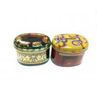 China Painting Tin Coin Box 0.23mm Containers For Saving , 105x75x80mm wholesale