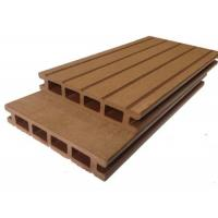China Anti Slip / Anti Rot Outdoor Solid Composite Decking135x25mm 140x25mm Nature Color wholesale