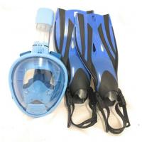 China Diving Snorkeling Equipment Swim Fins Masks Snorkels Combo Set Anti Seawater Corrosion wholesale