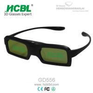 DLP Link Universal Active Shutter 3D Glasses With Rechargable Battery / Logo Print