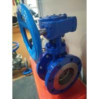 China Stainless Steel Seat Worm Gear Flanged end Eccentric Butterfly Valve DN100 wholesale