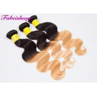 China Peruvian Virgin Ombre Colored Hair Extensions Natural Wavy 10 Inch - 30 Inch wholesale