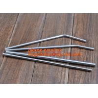China Diameter 6 mm 215 mm long stainless steel straw in bulk package,Stainless Steel Drinking Straws with Premium Aluminum Ca on sale