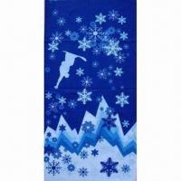 China Snowflake Multifunctional Bandana, Durable/Fresh Color/colorfast, Breathable/Wind Resistance/Warm wholesale