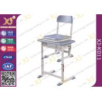 China HDPE Table Top Single Student Desk And Chair Set Aluminum Frame Scratch-resistant wholesale