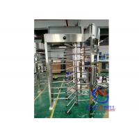 China Mechanical Rotating Full Body Turnstile Automatic Door Hand Push Stainless Steel on sale