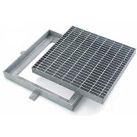 China Custom Hinged Mental Drainage Ditch Covers , Reliable Galvanized Trench Grating wholesale