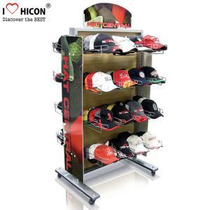 China Movable Retail Display Fixture Metal Multiple Nice Hat Cap Display Racks wholesale