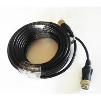 China 6 Poles M12 Screw Lock Driving Reverse Camera Cable PVC Insulation wholesale