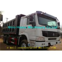 China 6 x 4 336hp / 371hp Sinotruk Howo Tipper  Dump Truck Hyva Lifting Iso Ccc  thickness of bottom and side wholesale