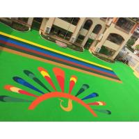 Recycled Playground Rubber Flooring , Multi Color Rubber Play Bark Chippings