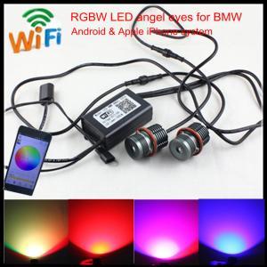 China Mobile Wifi control colors change E60 E39 20W LED RGBW angel eyes for BMW E39 E60 E87 wholesale