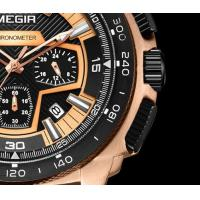 Quality MEGIR New 6 Hands Multifunction Military Chronograph Calendar Outdoor Sport Watchews Men Quartz Watch  2056G for sale