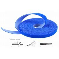 China Heat Resistant Strong Adhesive Hook And Loop Cable Wrap Blue Waterproof wholesale