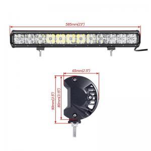 China 7D Cross 144 W DRL Car Roof LED Light Bar , 110v Led Flood Light Bar 2 Years Warranty wholesale