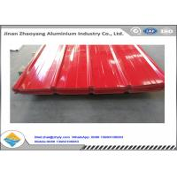 China Color Coated 1060 Corrugated Aluminum Sheet / Zinc Aluminum Alloy Roof Sheet wholesale