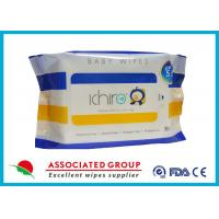 China 30 Sheets Healthy Baby Wet Wipes PH Balance Unscented Disposable Baby Wipes wholesale