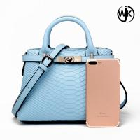 Buy cheap Attractive genuine leather lady handbag printed custom leather bag crocodile bag from wholesalers