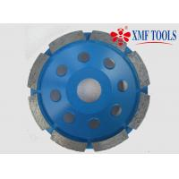 China 105mm 5 Inch  9 Inch Concrete Grinding Disc For Granite Single Row Cup Blue on sale