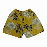China Cool and Fashionable Print on Appearance of Boardshorts, Adjustable High-elastic Drawcord wholesale