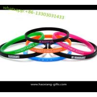 Quality custom Personalized embossed Logo 170*12*2mm Silicone Wristband for sale