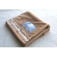 Wholesale Coffee Color Polyester Baby Blanket Flannel Various Design / Size from china suppliers