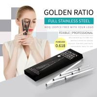 Buy cheap Flexible Stylish Eyebrow Shaping Tools Golden Ratio / Mean Caliper Divider from wholesalers