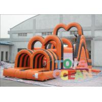 China Halloween Themed Giant Inflatable Bounce House / Inflatable Obstacle Combo Safety wholesale