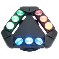China Disco Lighting 9 Heads 10W 4 IN 1 LED Spider Moving Head Beam Light Energy Saving  X-93 wholesale