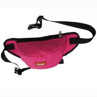 Quality Custom Canvas Fanny Pack Travel Waist Bag Red Color For Womens for sale