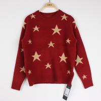 China Knit Jacquard Sweaters Star pattern Cindy Red Plus Size Clothes wholesale